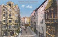 AK aus Innsbruck, Herzog Friedrichsstrasse, Goldenes Dachl, Tirol  (E7)