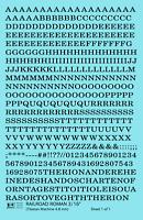 K4 HO Decals Black 3/16 Inch Railroad Roman Letter Number Alphabet Set