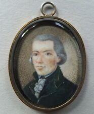 Miniatur Portrait, eines Herren, Gouache, 1. Hälfte 19. Jahrhundert