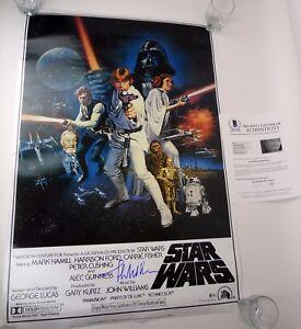 John Williams Composer Signed Star Wars Full Size Movie Poster Beckett BAS COA