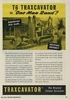 1950 T-6 Traxcavator Tractor Excavator Ad: Trackson Co. on Caterpillar Tractor