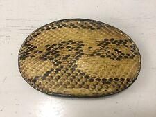 Tony Lama Snake Skin Leather Belt Buckle Brown Make USA Never Used #D-7