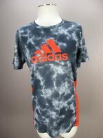 Adidas Size XL Mens Gray/Orange Athletic Climacool Short Sleeve T-Shirt 659