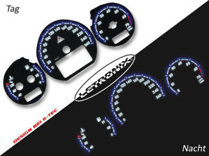 LETRONIX Plasma Tacho Tachoscheiben EL-Dash Mercedes Benz W202 260Km/h #