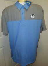 ID#1094 Large Columbia Golf Omni Wick North Carolina Polo Blue/Gray -NWT
