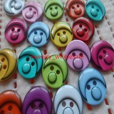 200pcs Mix Cute plastic Resin Button clown design Sewing Scrapbook Baby DIY Toys