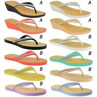 NEW JELLY SANDALS WOMENS LADIES DIAMANTE SUMMER HOLIDAY COMFORTS FLIP FLOPS SIZE