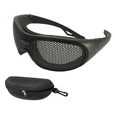 Steel Mesh Anti Fog Safety Protective Goggles Impact Resistant Matte Eyepieces