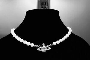 collana modello Vivienne Westwood style colore argento silver