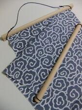 Japanese Traditional Tenugui Tapestriy bars Cypress wood Design Dark Brown