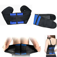 4 Sizes Adjustable Double Pull Lumbar Lower Back Support Belt Brace Pain Relief