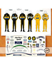 1/12 DECAL HELMET FIGURE AYRTON SENNA LOTUS TEAM 85 87