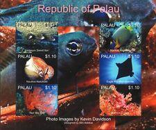 Mar de la vida marina (Eagle Ray/Pez Ángel/pescado/Coral hoja de sellos de Cangrejo) (2013) Palau