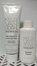 2 PC Combo Kelly Van Gogh MASTERBLEND Hair Colour 3N & DEVELOPER 2oz &Free Gift@