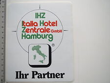 Aufkleber Sticker IHZ Italia Hotel Zentrale Hamburg (M1919)