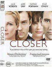 CLOSER - BRAND NEW & SEALED R4 DVD (JULIA ROBERTS, JUDE LAW, NATALIE PORTMAN)