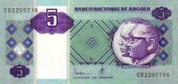 Angola banconota 1999 nove di 5 kwanzas pick 144a UNC