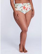 Cacique for Lane Bryant Exotic Floral 26 Swim Brief Swimsuit Bottom