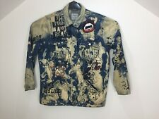 Denim Multi Colored Biker Mens Ripped Jeans PR Punk Splash Jacket Size 42