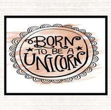 Acuarela nacido-a-ser-Unicornio - 2 cita Mesa Mantel Individual