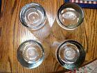 Set of 4 SPORTS Bar Beer Drinking GLASSES Baseball Basketball Football Golf