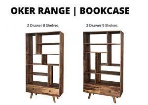 Oker Range   Bookcase 2 Drawer 8 Shelves or 2 Drawer 9 Shelves