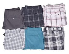 Hurley Mens Casual Stripe Plaid Shorts Choose Style Color & Size
