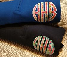Monogrammed 1/4 Quarter Zip Sweatshirt Sorority College Colors Christmas