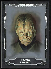 Star Wars 2016 Masterworks Silver Parallel Card #52 Pons Limbic 57/99