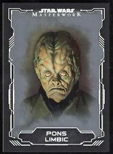 Star Wars 2016 Masterworks Silver Parallel Card #52 Pons Limbic 57/99
