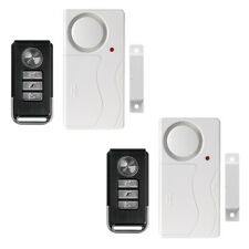 2x Security Wireless Remote Control Magnetic Sensor Door Window Burglar Alarm