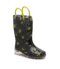 Western Chief Kids Light-up Waterproof Rain Boot Spider Black Toddler Size 12