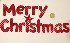 Merry Christmas handmade IRON ON fabric letters and numbers Patches Motif New