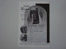 advertising Pubblicità 1937 KODAK REGENT