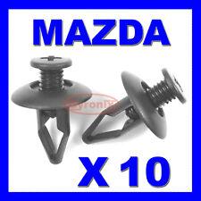 MAZDA FRONT WING WHEEL ARCH LINING SPLASHGUARD BUMPER UNDERTRAY PLASTIC CLIPS