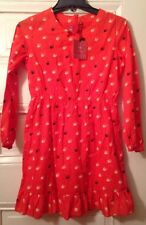 Uniqlo Undercover Girls Dress New Sz 11 Long Sleeve Printed