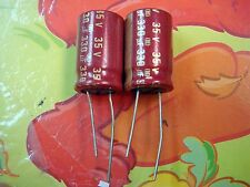 2 X MADE IN JAPAN ELNA RED CERAFINE 330uF 35V FOR AUDIO ELECTROLYTIC CAPACITOR