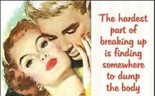 The Hardest Part Of Breaking Up..  funny fridge magnet (ep)