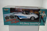 1:18 Ertl - 1962 Chevy Corvette AMERICAN GRAFFITI lmtd. EDT. RAREZA - NUEVO /