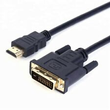 2m METRE GOLD PLATED DVI 24+1 MALE TO HDMI CABLE LEAD WIRE FOR PC TV DVD SKY