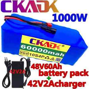 Li-Ion 36V 20AH E-Bike Battery 10S4P 20Ah 20000mAh Pack 1000W + BMS +  Charger
