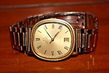 Vintage Mens Omega DeVille Watch 1012 Automatic 20 Microns Gold Plated Date 23 J