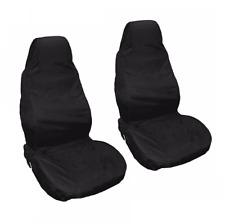 PEUGEOT 206 98-06 Black Front Waterproof Nylon Car Seat Covers Protectors