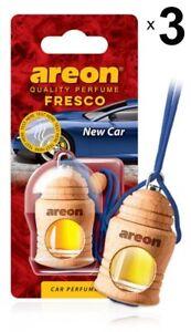 3 x Areon Fresco New Car Car Aroma Perfume Tree Air Freshener Scent Fragrance