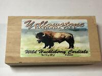 Wild Huckleberry Cordials Yellowstone National Park Empty Wooden Gift Box
