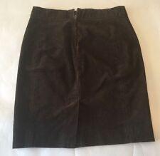 Women's J. Crew Brown Corduroy Mini Skirt Size 0 Petite - VGC