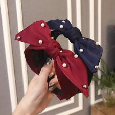Women's Tie Headband Twist Hairband Knot Cross Wide Hair Band Hoop Accessories