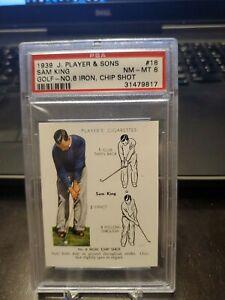 1939 J. Player & Sons #18 Sam King PSA 8