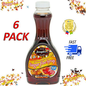 6 PACK - Joseph's Sugar-Free Maple Syrup - Great for Breakfast or desserts!