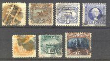 U.S. #112//119 Used - 1869 1c - 15c Pictorials ($856)